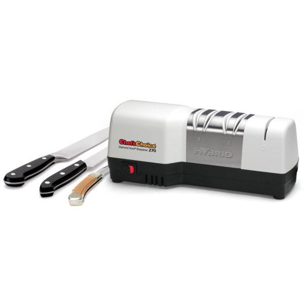 Электрическая точилка для европейских кухонных ножей Chef'sChoice 270. Официальный сайт ChefsChoice. Бесплатная доставка всех заказов!