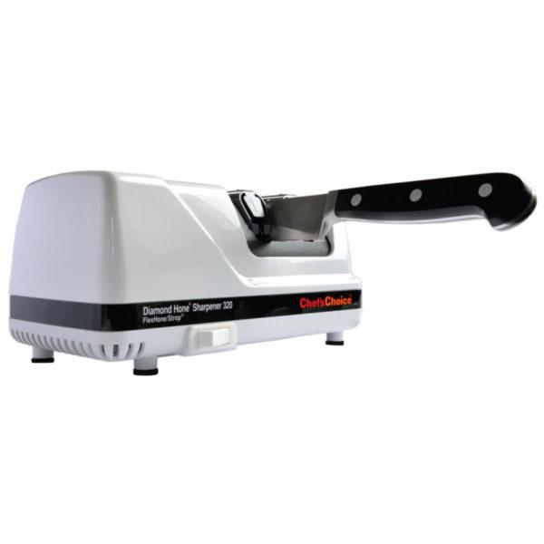 Электрическая точилка для европейских ножей Chef'sChoice 320, точилка подойдет для кухонных, домашних, профессиональных, складных, охотничьих и серрейторных ножей. Официальный сайт ChefsChoice. Бесплатная доставка всех заказов!
