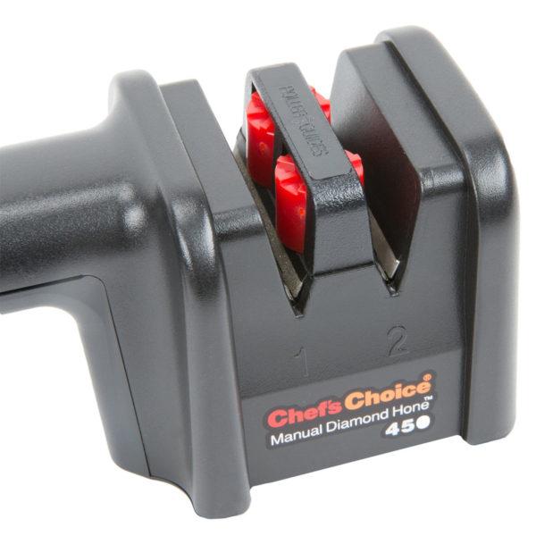 Механическая точилка для европейских кухонных и складных ножей Chef'sChoice 450. Официальный сайт ChefsChoice. Бесплатная доставка всех заказов!