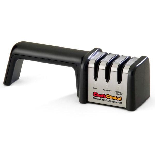 Механическая точилка для домашних кухонных японских (азиатских) и европейских ножей Chef'sChoice 4623, универсальная электрическая точилка для ножей. Официальный сайт ChefsChoice. Бесплатная доставка всех заказов!