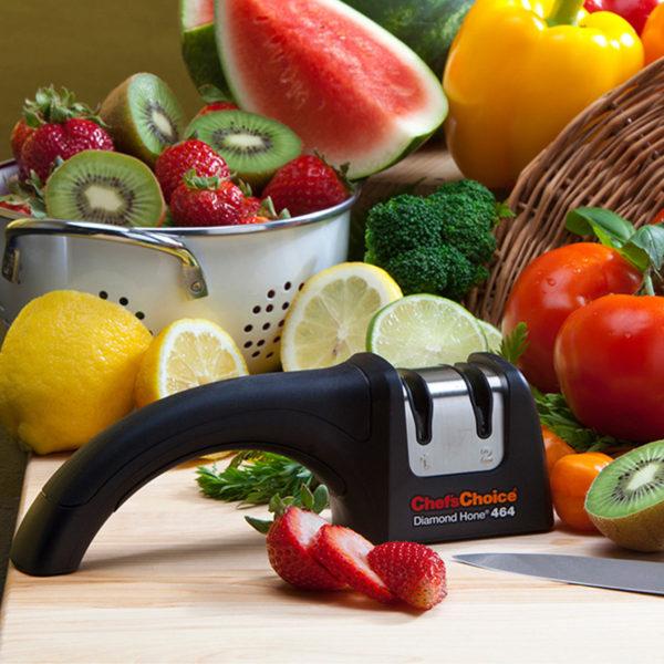 Механическая точилка для европейских кухонных и складных ножей Chef'sChoice 464. Официальный сайт ChefsChoice. Бесплатная доставка всех заказов!