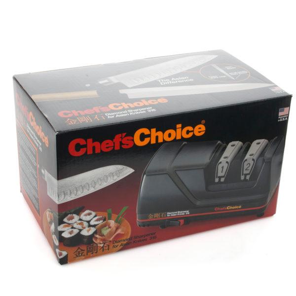 Электрическая точилка для японских азиатских ножей Chef'sChoice 316, точилка подойдет для кухонных ножей с односторонней и двусторонней заточкой, точилка подходит для керамических ножей, точилка для кухонных и профессиональных ножей . Официальный сайт ChefsChoice. Бесплатная доставка всех заказов!