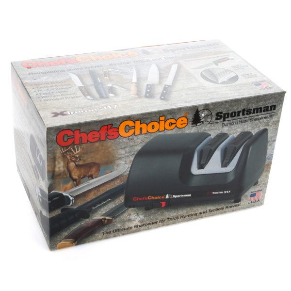 Электрическая точилка для европейских ножей Chef'sChoice 317, точилка подойдет для кухонных, домашних, профессиональных, складных, охотничьих и серрейторных ножей. Официальный сайт ChefsChoice. Бесплатная доставка всех заказов!